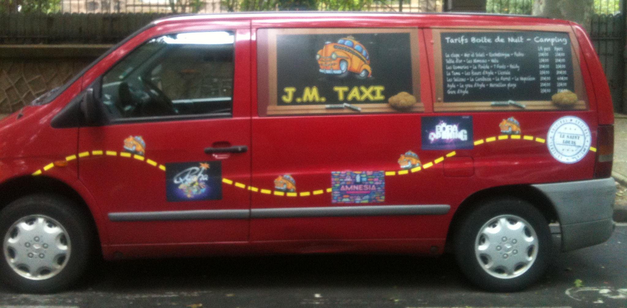 agde. jm taxi.9 places.taxi boite de nuit